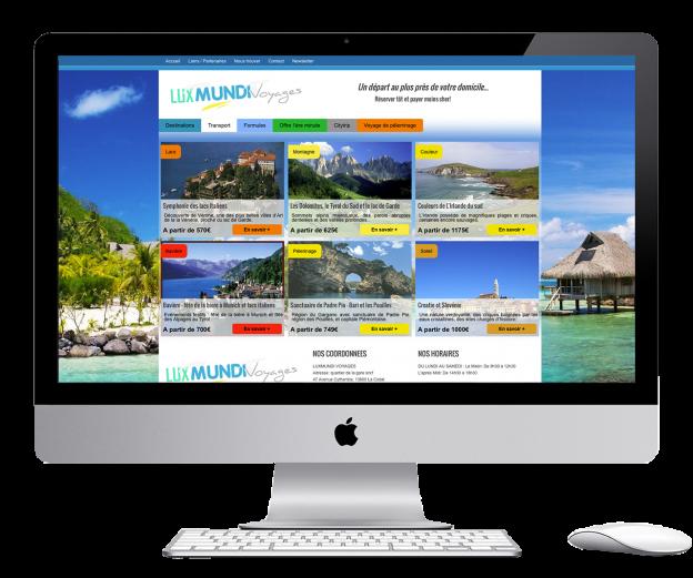 Wordpress website for a travel agency