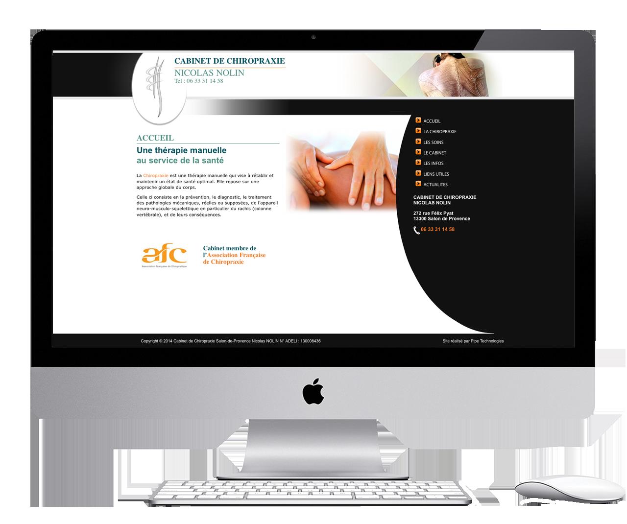 Doctor's website developed with wordpress near aix en provence