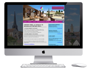 website development for a french resort near paris
