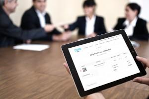Prestashop website on tablet, responsive.