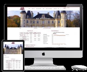Custom account page for WordPress