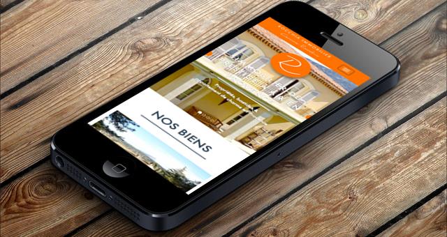real estate website on mobile