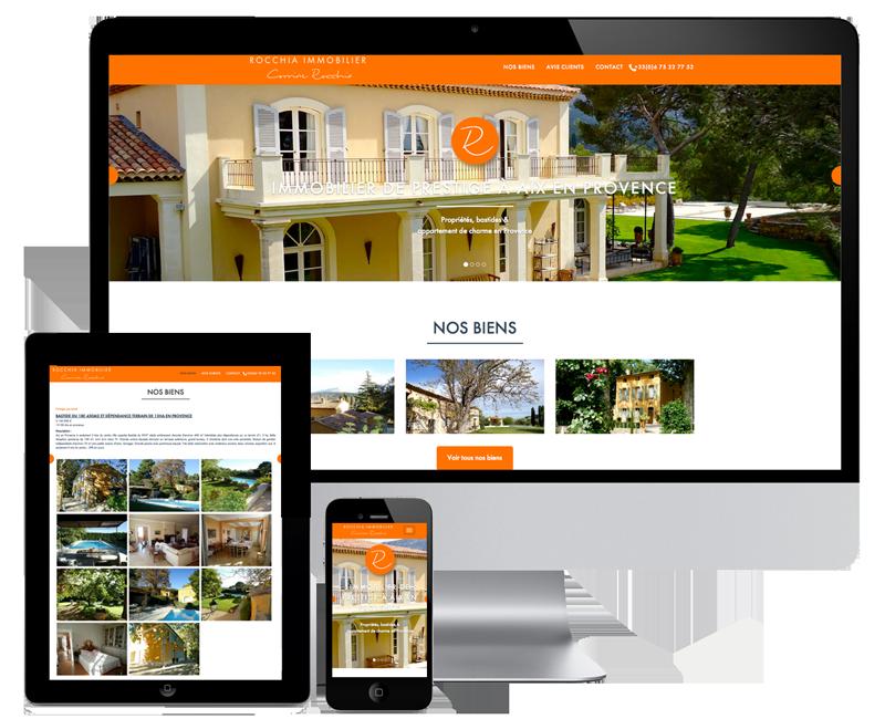 A real estate wordpress website