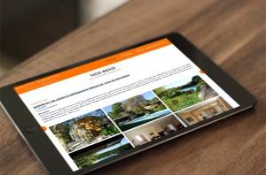 Wordpress website on tablet