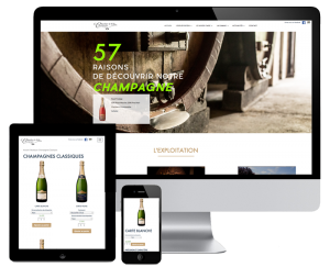 An e-commerce website for a champagne producer