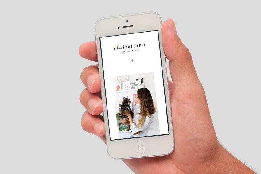 Mobile wordpress website