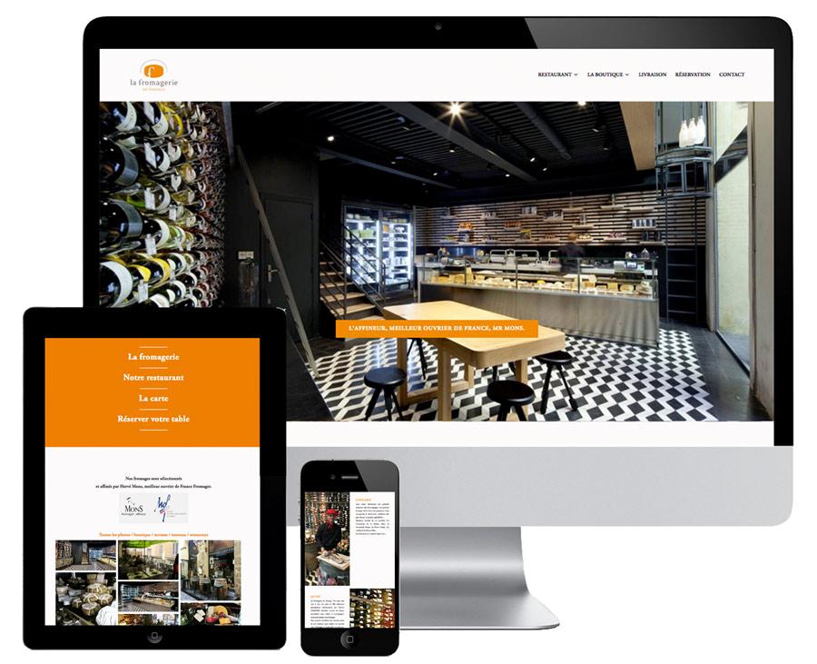 Wordpress website for a restaurant in Aix en Provence