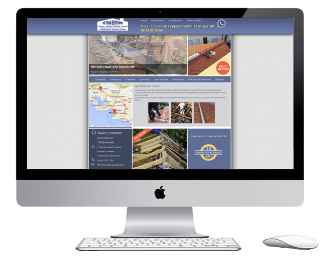 roofing website with wordpress
