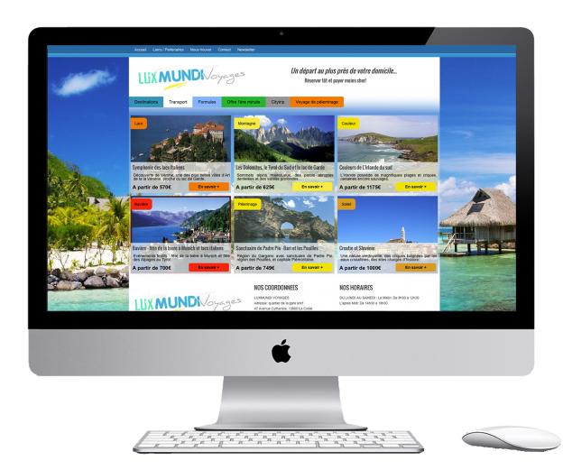 Wordpress website for a travel agency