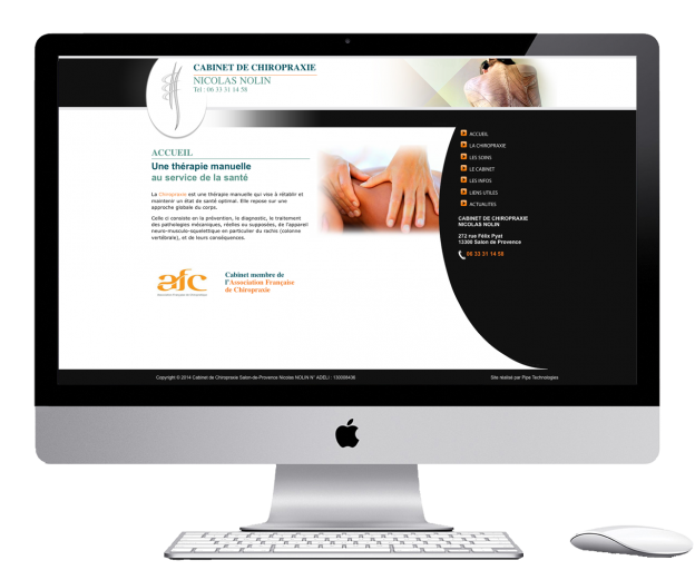 Doctor's website developed with wordpress near aix en provence