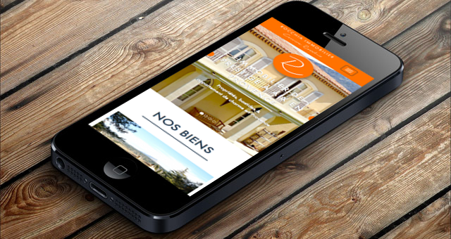 real estate website on mobile