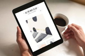 wordpress ecommerce website on tablet