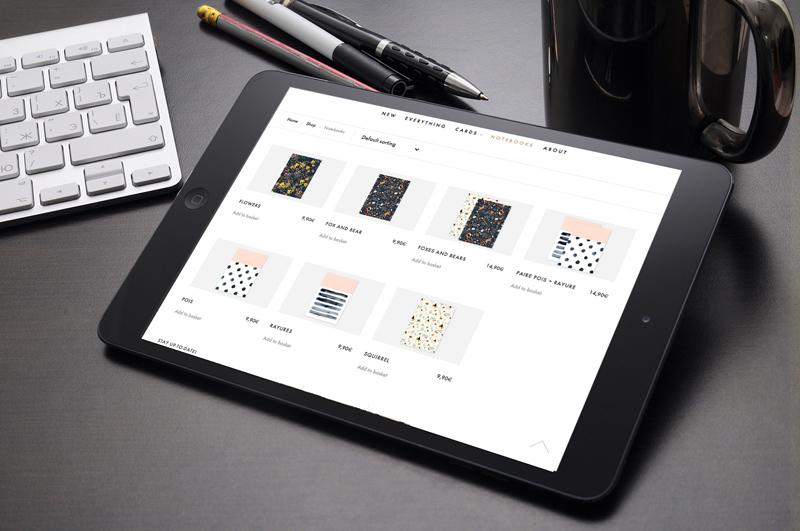 Woocommerce website on ipad