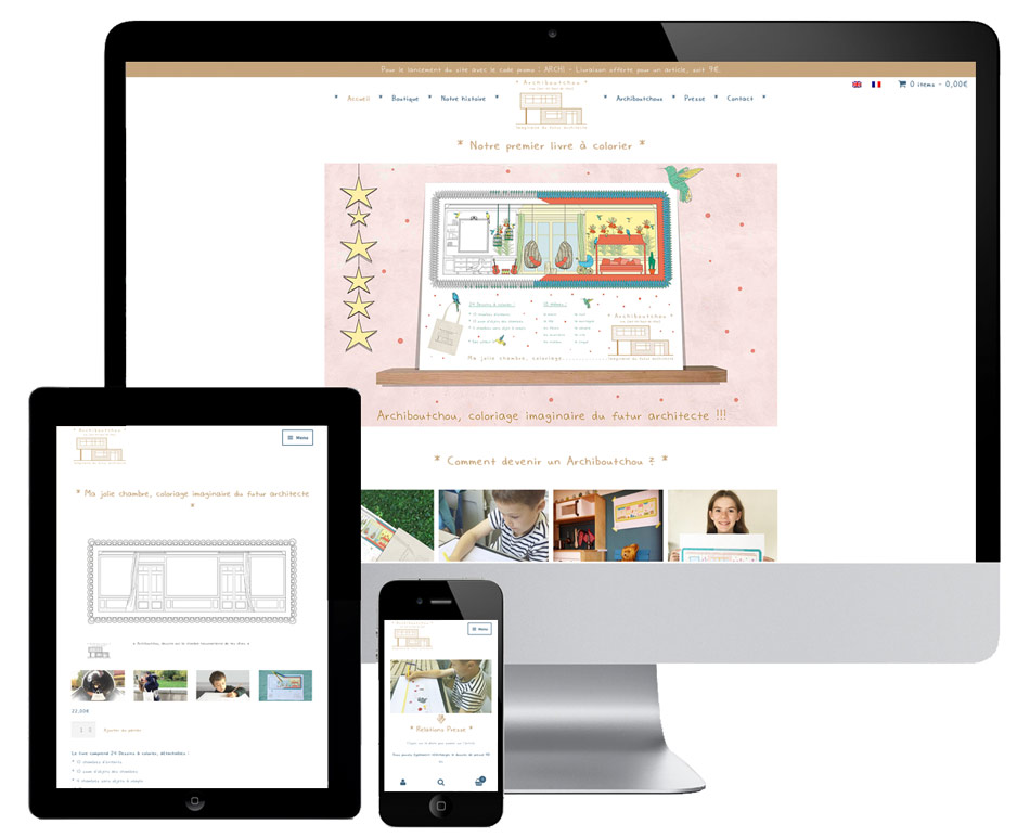 E-shop responsive design